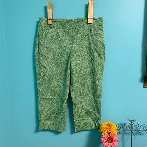 Like New Talbots paisley crop pants!